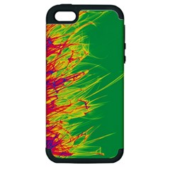 Fire Apple Iphone 5 Hardshell Case (pc+silicone) by Valentinaart