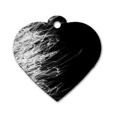 Fire Dog Tag Heart (Two Sides)