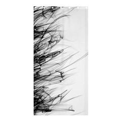 Fire Shower Curtain 36  X 72  (stall)  by Valentinaart
