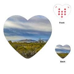 Patagonian Lanscape Scene, Santa Cruz, Argentina Playing Cards (heart)  by dflcprints