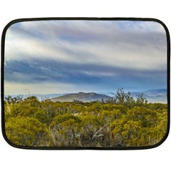 Patagonian Lanscape Scene, Santa Cruz, Argentina Double Sided Fleece Blanket (mini)  by dflcprints