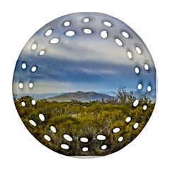 Patagonian Lanscape Scene, Santa Cruz, Argentina Round Filigree Ornament (two Sides) by dflcprints
