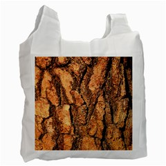 Bark Texture Wood Large Rough Red Wood Outside California Recycle Bag (Two Side)