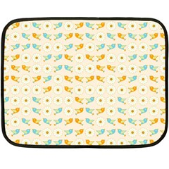 Birds And Daisies Fleece Blanket (mini) by linceazul