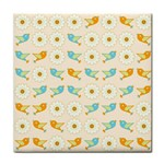 Birds And Daisies Face Towel Front