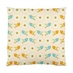Birds And Daisies Standard Cushion Case (one Side) by linceazul