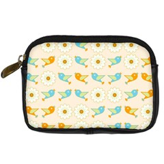 Birds And Daisies Digital Camera Cases by linceazul