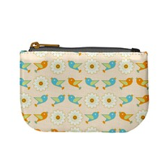 Birds And Daisies Mini Coin Purses by linceazul
