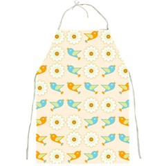 Birds And Daisies Full Print Aprons by linceazul