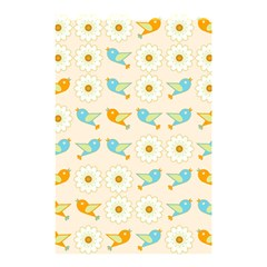 Birds And Daisies Shower Curtain 48  X 72  (small)  by linceazul