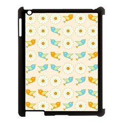 Birds And Daisies Apple Ipad 3/4 Case (black) by linceazul