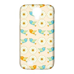 Birds And Daisies Samsung Galaxy S4 Classic Hardshell Case (pc+silicone) by linceazul