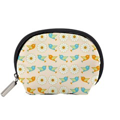 Birds And Daisies Accessory Pouches (small)  by linceazul