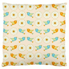Birds And Daisies Standard Flano Cushion Case (one Side) by linceazul