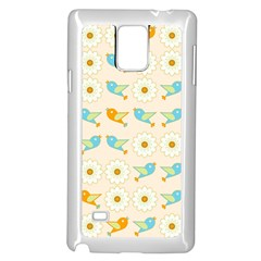 Birds And Daisies Samsung Galaxy Note 4 Case (white) by linceazul
