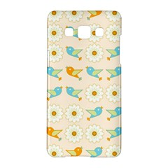 Birds And Daisies Samsung Galaxy A5 Hardshell Case  by linceazul