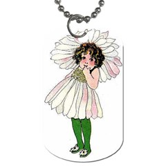 Daisy Vintage Flower Child Cute Funny Floral Little Girl Dog Tag (one Side) by yoursparklingshop
