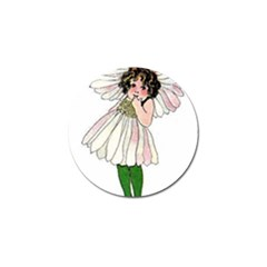 Daisy Vintage Flower Child Cute Funny Floral Little Girl Golf Ball Marker by yoursparklingshop