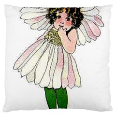 Daisy Vintage Flower Child Cute Funny Floral Little Girl Large Cushion Case (two Sides)