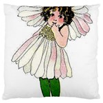 Daisy Vintage Flower Child Cute Funny Floral Little Girl Large Cushion Case (Two Sides) Back