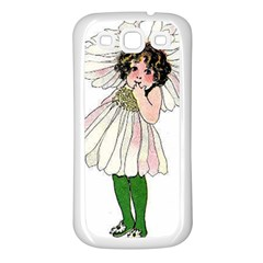 Daisy Vintage Flower Child Cute Funny Floral Little Girl Samsung Galaxy S3 Back Case (white) by yoursparklingshop