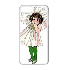 Daisy Vintage Flower Child Cute Funny Floral Little Girl Apple Iphone 7 Plus White Seamless Case by yoursparklingshop