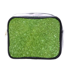 Green Glitter Abstract Texture Mini Toiletries Bags
