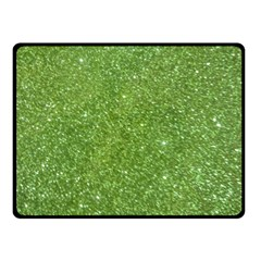 Green Glitter Abstract Texture Double Sided Fleece Blanket (small)  by dflcprints