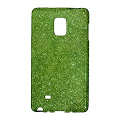 Green Glitter Abstract Texture Galaxy Note Edge by dflcprints