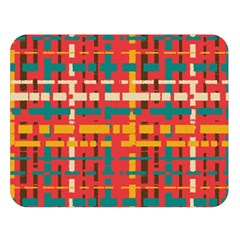 Colorful Line Segments Double Sided Flano Blanket (large)  by linceazul