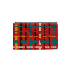 Colorful Line Segments Cosmetic Bag (small)  by linceazul