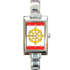 Flag Of Sikkim, 1967 1975 Rectangle Italian Charm Watch by abbeyz71