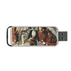 Dog Circus Portable Usb Flash (one Side) by Valentinaart