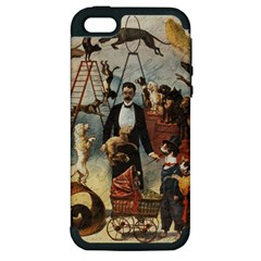 Dog Circus Apple Iphone 5 Hardshell Case (pc+silicone) by Valentinaart