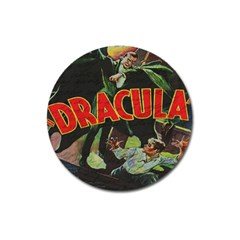 Dracula Magnet 3  (round) by Valentinaart