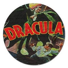 Dracula Magnet 5  (round) by Valentinaart