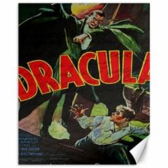 Dracula Canvas 11  X 14   by Valentinaart