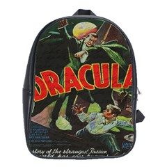 Dracula School Bags (xl)  by Valentinaart