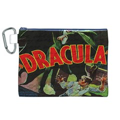 Dracula Canvas Cosmetic Bag (xl) by Valentinaart