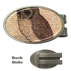 Vintage Owl Money Clips (oval)  by Valentinaart
