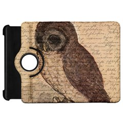 Vintage Owl Kindle Fire Hd 7  by Valentinaart