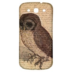 Vintage Owl Samsung Galaxy S3 S Iii Classic Hardshell Back Case by Valentinaart