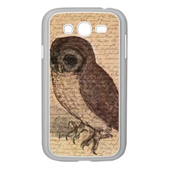 Vintage Owl Samsung Galaxy Grand Duos I9082 Case (white) by Valentinaart