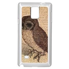 Vintage Owl Samsung Galaxy Note 4 Case (white) by Valentinaart