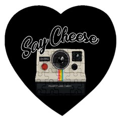 Say Cheese Jigsaw Puzzle (heart) by Valentinaart