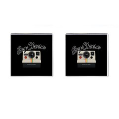 Say Cheese Cufflinks (square) by Valentinaart