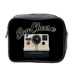 Say Cheese Mini Toiletries Bag 2 Side by Valentinaart