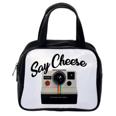 Say Cheese Classic Handbags (one Side) by Valentinaart