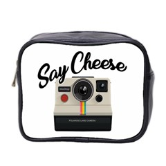 Say Cheese Mini Toiletries Bag 2 Side by Valentinaart