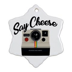 Say Cheese Snowflake Ornament (two Sides) by Valentinaart